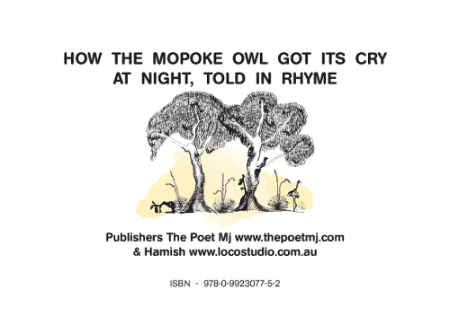 The Currawong and the Owl (Back Cover)